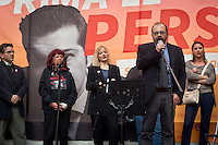 Curzio Maltese during the presentation of Italy's Tsipras List in Piazza Affari (Milan Stock Exchange) , on April 23, 2014. Photo: Adamo Di Loreto/BuenaVista*Photo