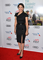 "LOS ANGELES, CA. November 10, 2018: Lisa Edelstein at the AFI Fest 2018 world premiere of ""The Kominsky Method"" at the TCL Chinese Theatre.<br /> Picture: Paul Smith/Featureflash"