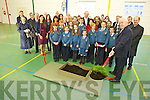 Minister Jimmy Deenihan along with staff, patents and otheres were in Scoil Eoin, Balloonagh for the turning of the sod in preparation for the construction of the new school building on Friday.