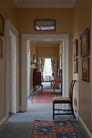 A modernised upstairs corridor is home to a number of antiques