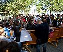 Mick Fanning signing autographs in Mundaka, Spain.