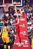 Washington, DC - August 17, 2018: Washington Mystics guard Elena Delle Donne (11) drives to the basket for a wide open lay up during game between the Washington Mystics and Los Angeles Sparks at the Capital One Arena in Washington, DC. (Photo by Phil Peters/Media Images International)