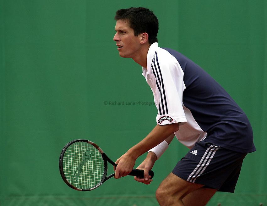 Photo. Richard Lane. .Roland Garros 2002, French Open Tennis. 28/5/2002.Tim Henman of Great Britain.