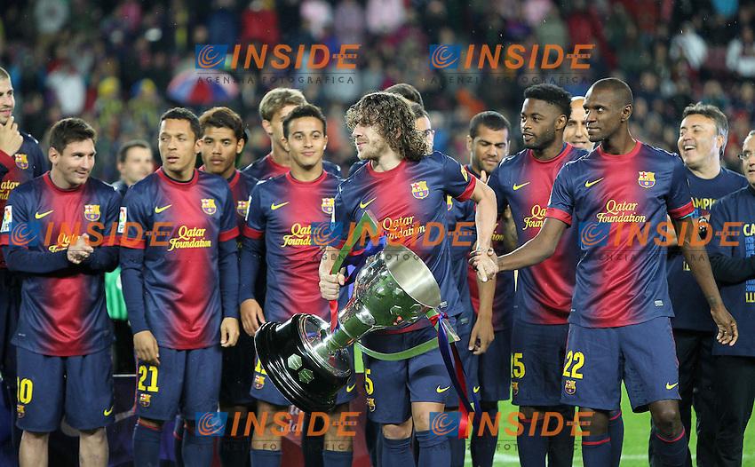 Carles PUYOL (barcelone) .Barcellona Campione di Spagna .Football Calcio 2012/2013.La Liga Spagna.Foto Panoramic / Insidefoto .ITALY ONLY