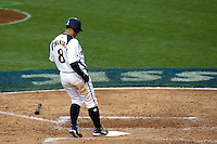 22 March 2009: #8 Akinori Iwamura of Japan scores during the 2009 World Baseball Classic semifinal game at Dodger Stadium in Los Angeles, California, USA. Japan wins 9-4 over Team USA.