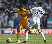 Preston North End's Daniel Johnson battles with Leeds United's Alfonso Pedraza<br /> <br /> Photographer Alex Dodd/CameraSport<br /> <br /> The EFL Sky Bet Championship - Leeds United v Preston North End - Saturday 8th April 2017 - Elland Road - Leeds<br /> <br /> World Copyright &copy; 2017 CameraSport. All rights reserved. 43 Linden Ave. Countesthorpe. Leicester. England. LE8 5PG - Tel: +44 (0) 116 277 4147 - admin@camerasport.com - www.camerasport.com