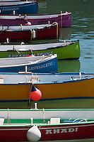 Europe/France/Aquitaine/64/Pyrénées-Atlantiques/Pays-Basque/Ciboure: Port de Socoa - Batels ou Batteleku , ces anciennes  barques de pêche servent désormais à des compétitions