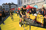 Direct Energie at the team presentation in Antwerp before the start of the 2019 Ronde Van Vlaanderen 270km from Antwerp to Oudenaarde, Belgium. 7th April 2019.<br /> Picture: Eoin Clarke | Cyclefile<br /> <br /> All photos usage must carry mandatory copyright credit (&copy; Cyclefile | Eoin Clarke)