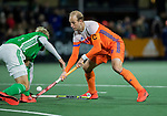 AMSTELVEEN - Billy Bakker (Ned)   tijdens de hockeyinterland Nederland-Ierland (7-1) , naar aanloop van het WK hockey in India..  COPYRIGHT KOEN SUYK