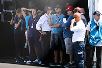 NEW YORK,EUA, 16.07.2017 - FORMULA-E - Leonardo Di Caprio durante etapa R10 New York City da Qualcomm Formula E no Brooklyn na cidade de New York nos Estados Unidos neste domingo, 16. (Foto: William Volcov/Brazil Photo Press)