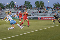 Boyds, MD - Saturday June 03, 2017: Rachel Daly, Estelle Johnson during a regular season National Women's Soccer League (NWSL) match between the Washington Spirit and Houston Dash at Maureen Hendricks Field, Maryland SoccerPlex.