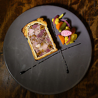 Melbourne, May 19 2018 - A Pate en Croute at Philippe Restaurant in Melbourne, Australia. Photo Sydney Low