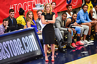Washington, DC - September 2 2018: Atlanta Dream head coach Nicki Collen on the sideline during semifinals game against Atlanta Dream. Mystics even the series and force a deciding game 5 in Atlanta with a 97-76 win at the Charles Smith Center at George Washington University in Washington, DC. (Photo by Phil Peters/Media Images International)
