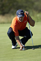 SAN ANTONIO , TX - OCTOBER 18, 2009: Day 1 of the The Lone Star Invitational Golf Tournament at Briggs Ranch Golf Club. (Photo by Jeff Huehn)