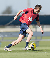 Sam Vines of the United States dribbles the ball