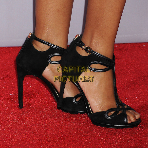 Tempestt Bledsoe's shoes .People's Choice Awards 2013 - Arrivals held at Nokia Theatre L.A. Live, Los Angeles, California, USA..January 9th, 2013.detail feet heels black.CAP/ADM/BP.©Byron Purvis/AdMedia/Capital Pictures.