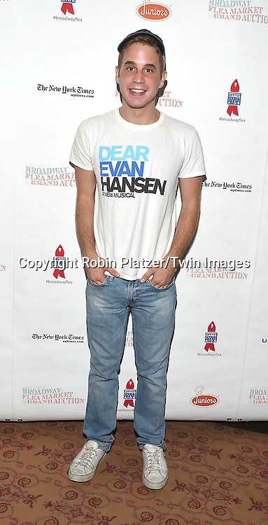 Ben Platt attends the Broadway Cares/Equity Fights Aids Flea Market and Grand Auction on September 25, 2016 at the Music Box Theatre and in Shubert Ally in New York, New York, USA. <br /> <br /> photo by Robin Platzer/Twin Images<br />  <br /> phone number 212-935-0770