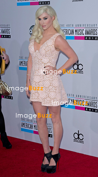 KESHA.attends the 40th American Music Awards, Nokia Theatre, Los Angeles_18/11/2012