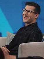 NEW YORK, NY - January 10: Andy Samberg at NBC's Today Show to talk about new season Brooklyn Nine-Nine ON January 10, 2019 in New York City.  <br /> CAP/MPI/RW<br /> &copy;RW/MPI/Capital Pictures