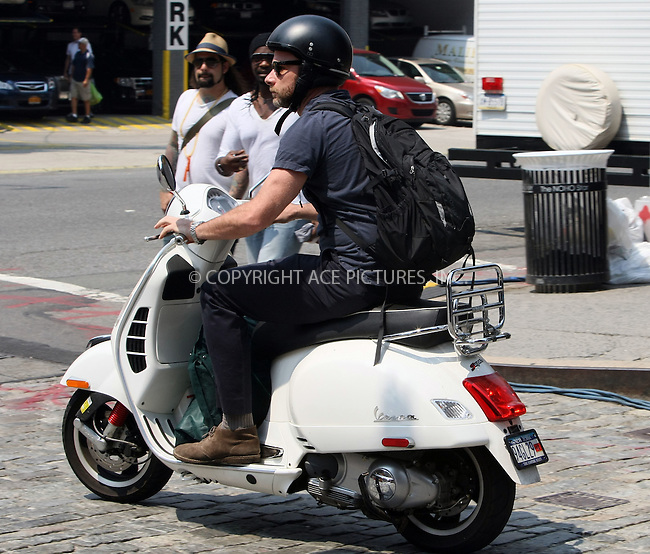 WWW.ACEPIXS.COM . . . . .  ....June 1 2011, New York City....Actor Liev Schreiber leaves his apartment on a Vespa on June 1 2011 in New York City........Please byline: PHILIP VAUGHAN - ACE PICTURES.... *** ***..Ace Pictures, Inc:  ..Philip Vaughan (212) 243-8787 or (646) 679 0430..e-mail: info@acepixs.com..web: http://www.acepixs.com