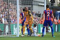 Glenn Murray of Brighton & Hove Albion reels away without celebrating against his former club during Crystal Palace vs Brighton & Hove Albion, Premier League Football at Selhurst Park on 14th April 2018