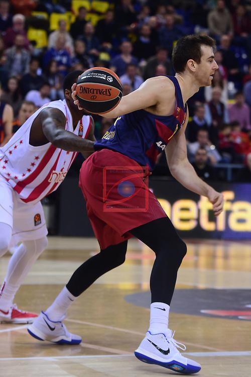 Turkish Airlines Euroleague 2016/2017.<br /> Regular Season - Round 28.<br /> FC Barcelona Lassa vs Crvena Zvezda MTS Belgrade: 67-54.<br /> Victor Claver.