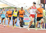 November 17 2011 - Guadalajara, Mexico:  Jason Dunkerley competing with guide Cody Boast in the Men's 1500m - T11 in the Telmex Athletic's Stadium at the 2011 Parapan American Games in Guadalajara, Mexico.  Photos: Matthew Murnaghan/Canadian Paralympic Committee