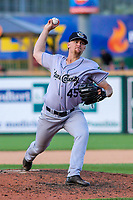 Kane County Cougars pitcher Jake Winston (45) during game one of a Midwest League doubleheader against the Wisconsin Timber Rattlers on June 23, 2017 at Fox Cities Stadium in Appleton, Wisconsin.  Kane County defeated Wisconsin 4-3. (Brad Krause/Krause Sports Photography)