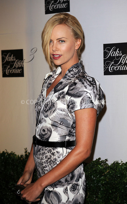 WWW.ACEPIXS.COM . . . . . ....September 9 2009, New York City....Actress Charlize Theron at the unveiling of the new third floor at Saks Fifth Avenue on September 9, 2009 in New York City. ....Please byline: KRISTIN CALLAHAN - ACEPIXS.COM.. . . . . . ..Ace Pictures, Inc:  ..tel: (212) 243 8787 or (646) 769 0430..e-mail: info@acepixs.com..web: http://www.acepixs.com