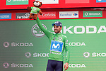 Alejandro Valverde (ESP) Movistar Team retains the Green Jersey at the end of Stage 15 of the La Vuelta 2018, running 178.2km from Ribera de Arriba to Lagos de Covadonga, Spain. 9th September 2018.               Picture: Unipublic/Photogomezsport | Cyclefile<br /> <br /> <br /> All photos usage must carry mandatory copyright credit (&copy; Cyclefile | Unipublic/Photogomezsport)