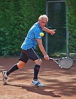 Netherlands, Amstelveen, August 23, 2015, Tennis,  National Veteran Championships, NVK, TV de Kegel,  Men's single final 55+ years: Ben van de Steen<br /> Photo: Tennisimages/Henk Koster
