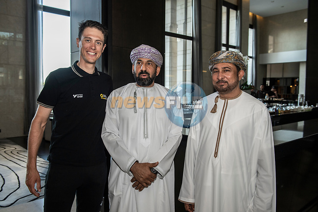 Ministerial visit to meet with some of the top riders including Niki Terpstra (NED) before the start of 10th Tour of Oman 2019, Muscat, Oman. 15th February 2019.<br /> Picture: ASO/P.Ballet | Cyclefile<br /> All photos usage must carry mandatory copyright credit (© Cyclefile | ASO/P.Ballet)