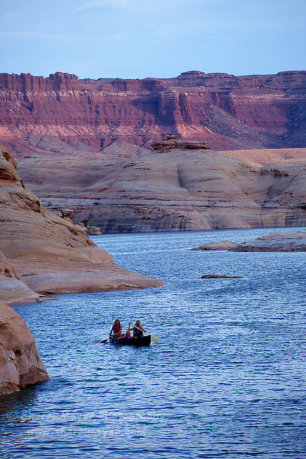 Canoeists on Lake Powell