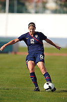 US Women's National Team player Yael Averbuch at the Algarve Cup in Vila Real Sto. Antonio, Portugal.