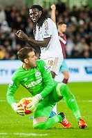 Bafetibis Gomis of Swansea look on during the Barclays Premier League match between Swansea City and West Ham United played at the Liberty Stadium, Swansea  on December 20th 2015