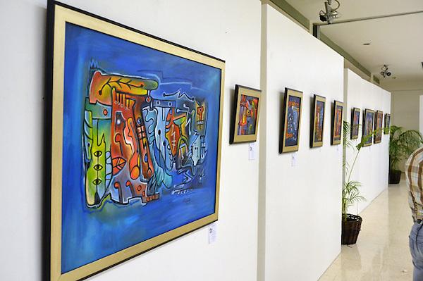 Exposición individual del pintor Johnny Rotestan..Foto: Ariel Díaz-Alejo/acento.com.do.Fecha: 25/02/2012.