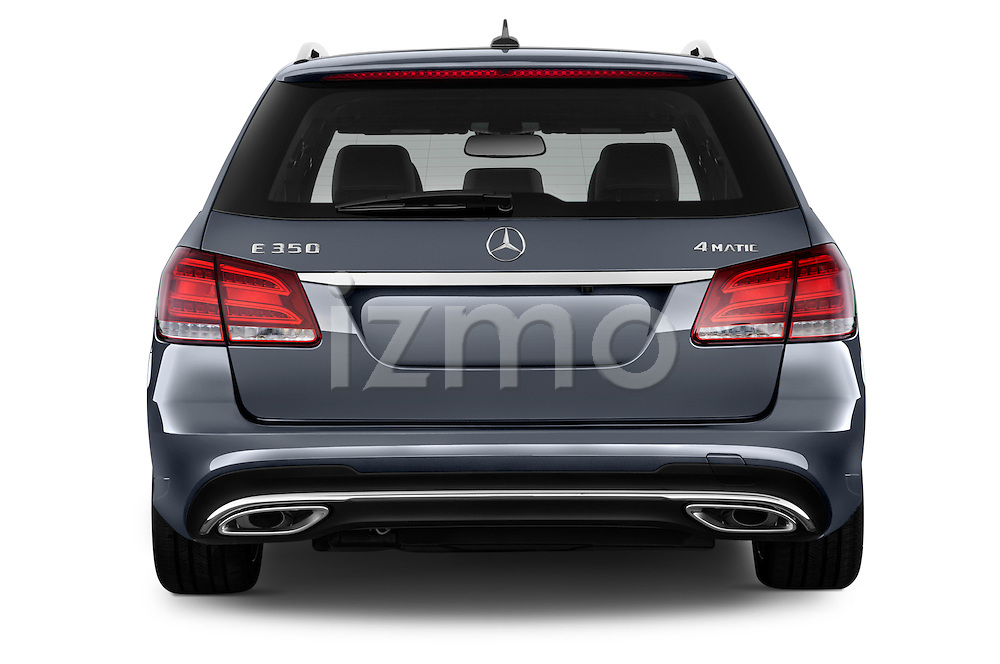 Straight rear view of a 2014 Mercedes E350 4Matic Wagon