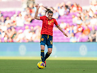 ORLANDO, FL - MARCH 05: Patri Guijarro #12 of Spain dribbles during a game between Spain and Japan at Exploria Stadium on March 05, 2020 in Orlando, Florida.