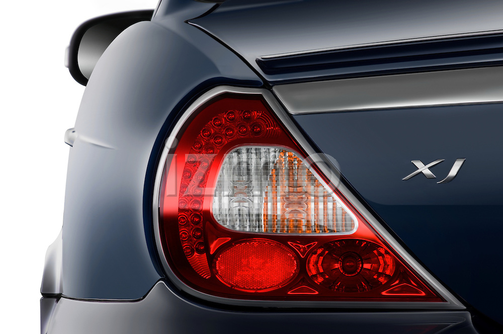 Rear tail light detail of a 2008 Jaguar XJ Sedan