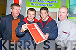 WHATS ON OFFER: Students travelled from as far as Pobalscoil Inbhear Scine, Kenmare to see what was on offer at the Careers Fair in the Brandon Hotel on Thursday. From l-r were Fr. John Fitzgerald, Mission of the Sacred heart, Cork, students Con Godfrey and Daniel Cremin and Fr. Dave Nixon..
