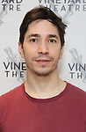 "Justin Long attends the photo call for the Vineyard Theatre production of ""Do You Feel Anger?"" at the Vineyard Theater Rehearsal studio Theatre on February 14, 2019 in New York City."