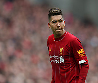 7th March 2020; Anfield, Liverpool, Merseyside, England; English Premier League Football, Liverpool versus AFC Bournemouth; Roberto Firmino of Liverpool