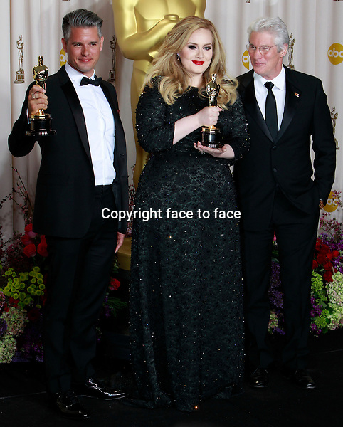 Paul Epworth Adele Richard Gere attending the 85th Academy Awards at the Hollywood and Highland Center in Hollywood, California, 24.02.2013...Credit: MediaPunch/face to face..- Germany, Austria, Switzerland, Eastern Europe, Australia, UK, USA, Taiwan, Singapore, China, Malaysia and Thailand rights only -