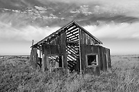 The Recreation, the cabin of Ann and John Byrnes that was built in 1903, now sits abandoned and slowly sinking into the marsh at the ghost town of Drawbridge in southern San Francisco Bay. Drawbridge was a hunting village started in the 1880's with the last resident leaving in the 1970's