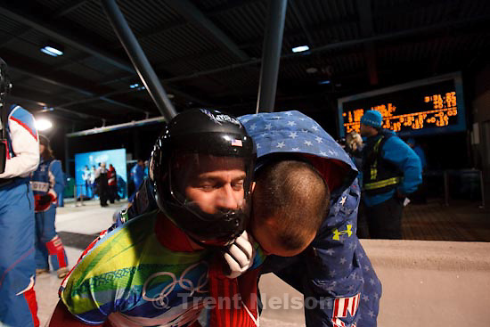 Trent Nelson  |  The Salt Lake Tribune.Zach Lund, USA, at the end of his final fun. Lund placed fifth in the Men's Skeleton, at the XXI Olympic Winter Games in Whistler, Friday, February 19, 2010.