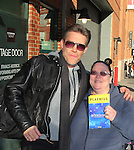 """Vikki Thompson poses with As The World Turns' Judson Mills who stars in The Bodyguard The Musical as """"Frank Farmer"""" on March 4, 2017 at the Hippodrome Theatre in Baltimore, Maryland. Check www.thebodyguardthemusical.com for future performance dates. (Photo by Sue Coflin/Max Photos)"""