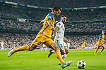 Nuno Morais (l) of APOEL FC battles for the ball with Isco Alarcon of Real Madrid during the UEFA Champions League 2017-18 match between Real Madrid and APOEL FC at Estadio Santiago Bernabeu on 13 September 2017 in Madrid, Spain. Photo by Diego Gonzalez / Power Sport Images