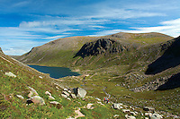 Stacan Dubha, Beinn Mheadhoin, Loch Avon and the Loch Avon Basin from Coire Domhain, Cairngorm National Park, Badenoch and Speyside, Highland