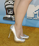 Singer Lucy Walsh 's shoes at the 2008 MTV Movie Awards on June 1, 2008 at the Gibson Amphitheatre in Universal City, California.