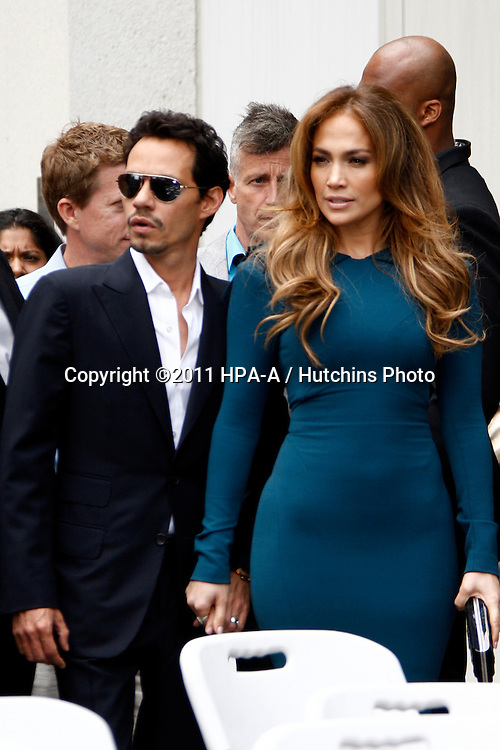 LOS ANGELES - MAY 23:  Marc Anthony, Jennifer Lopez at the Simon Fuller Hollywood Walk Of Fame Star Ceremony at W Hotel - Hollywood on May 23, 2011 in Los Angeles, CA